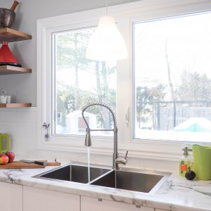 Courtice Ave - White + Walnut Modern Kitchen Design - Urbanomic Interiors 18