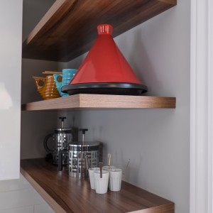 Courtice Ave - White + Walnut Modern Kitchen Design - Urbanomic Interiors 19