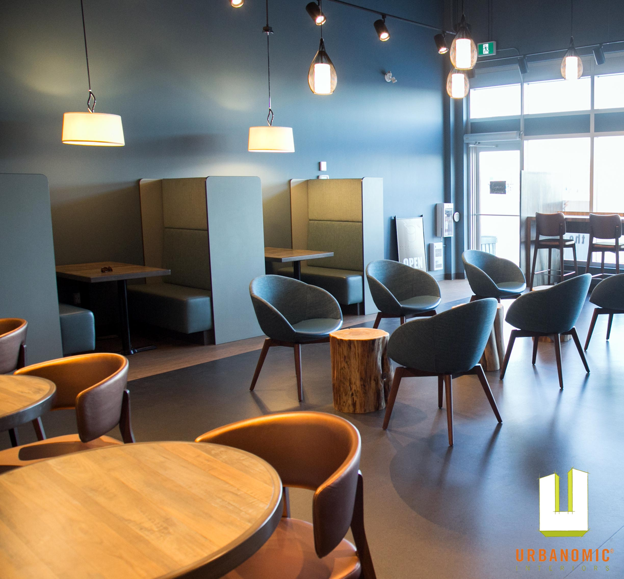 Restaurant Interior Design Ottawa : Grounds café stittsville ottawa on urbanomic interiors