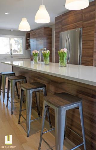 Courtice Ave - White + Walnut Modern Kitchen Design - Urbanomic Interiors 05
