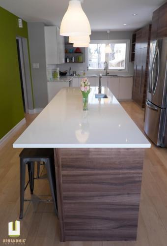 Courtice Ave - White + Walnut Modern Kitchen Design - Urbanomic Interiors 06