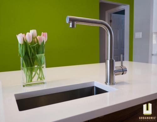 Courtice Ave - White + Walnut Modern Kitchen Design - Urbanomic Interiors 08