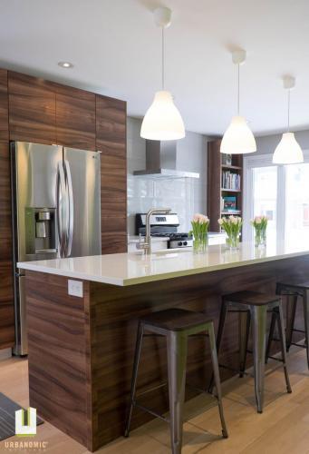 Courtice Ave - White + Walnut Modern Kitchen Design - Urbanomic Interiors 10
