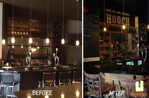 Hooch Bar Before & After