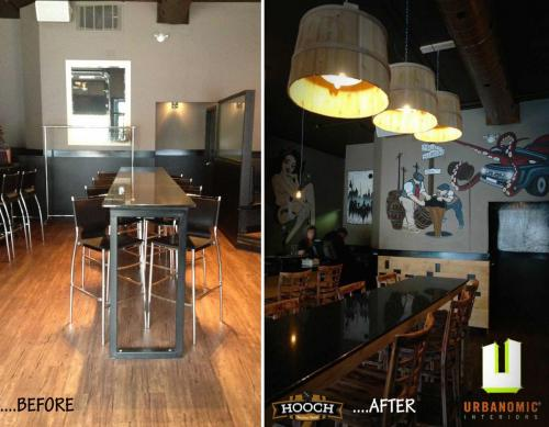 Hooch Dining Before & After