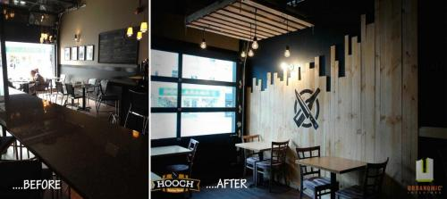 Hooch Interior Before & After